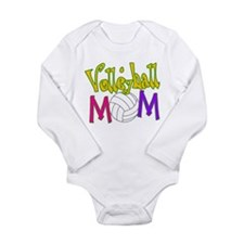 Volleyball Mom 4 Long Sleeve Infant Bodysuit
