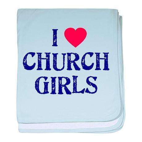 I love church girls Infant Blanket
