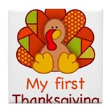 My First Thanksgiving Tile Coaster