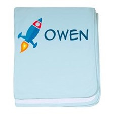 Owen Rocket Ship Infant Blanket