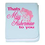 Miss Fisherman Infant Blanket