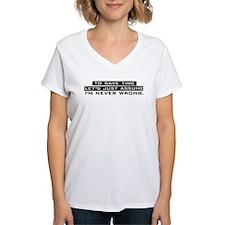 I'm Never Wrong Shirt