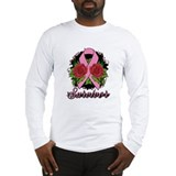 Breast Cancer Rose Tattoo Long Sleeve T-Shirt