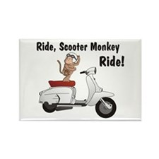 ScooterMonkey Lambretta Rectangle Magnet (100 pack
