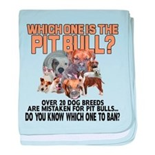 Find the Pit Bull baby blanket