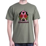 Breast Cancer Rose Tattoo T-Shirt
