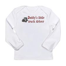 Little Truck Driver Long Sleeve Infant T-Shirt