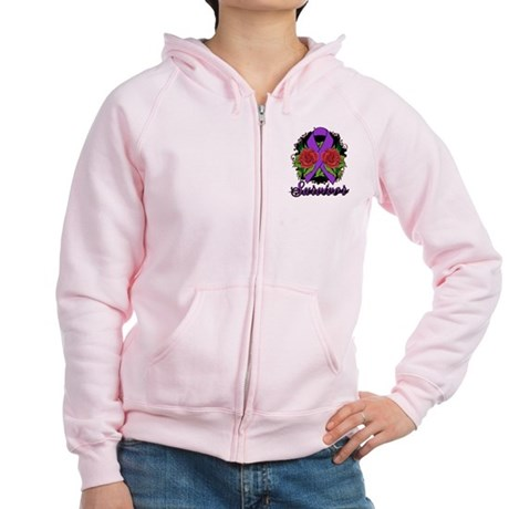 Pancreatic Cancer Women's Zip Hoodie