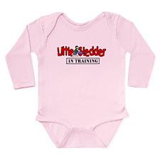 Little Sledder in Trai Long Sleeve Infant Bodysuit