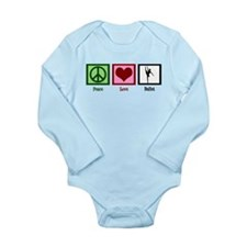 Peace Love Ballet Long Sleeve Infant Bodysuit