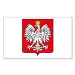Polish Coat of Arms Rectangle Sticker