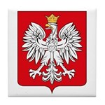 Polish Coat of Arms Tile Coaster