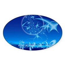 Softly Come My Dreams Oval Decal
