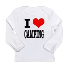 I Heart (Love) Camping Long Sleeve Infant T-Shirt