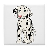 Dalmatian Puppy Tile Coaster