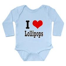 I Heart (Love) Lollipops Long Sleeve Infant Bodysu