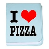 I Heart (Love) Pizza Infant Blanket