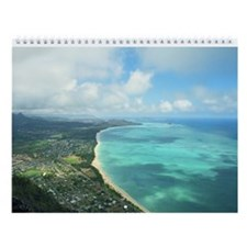 Oahu Hawaii Tropical Wall Calendar