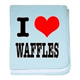 I Heart (Love) Waffles Infant Blanket