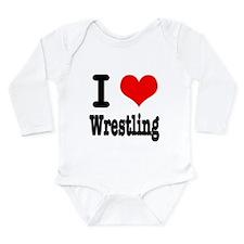 I Heart (Love) Wrestling Onesie Romper Suit