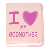 Pink I Heart (Love) Godmother Infant Blanket