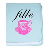 Fille (Girl) Teacup Infant Blanket
