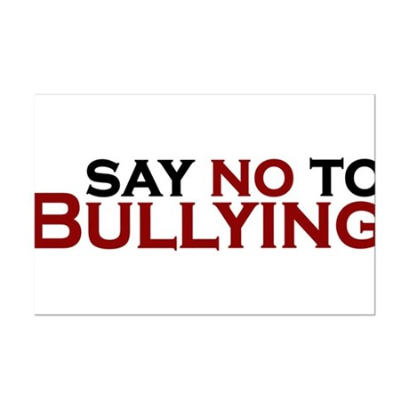 saying no to bullying in the Parents, school staff, and other adults in the community can help kids prevent bullying by talking about it, building a safe school environment.