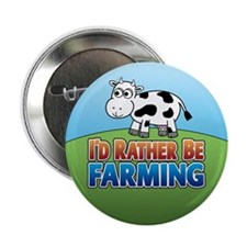"Farmville Inspired Cow 2.25"" Button"