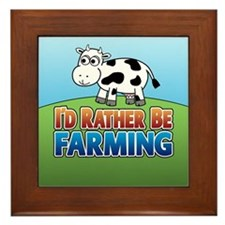 Farmville Inspired Cow Framed Tile