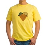 Leather heart [Jack+Ennis]+hats Yellow T-Shirt