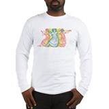 Rainbow Bharatanatyam Dancers Long Sleeve T-Shirt