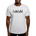 Bharatanatyam Line Poses Ash Grey T-Shirt