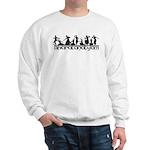 Bharatanatyam Line Poses Sweatshirt