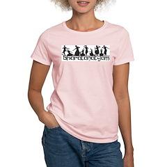 Bharatanatyam Line Poses Women's Pink T-Shirt