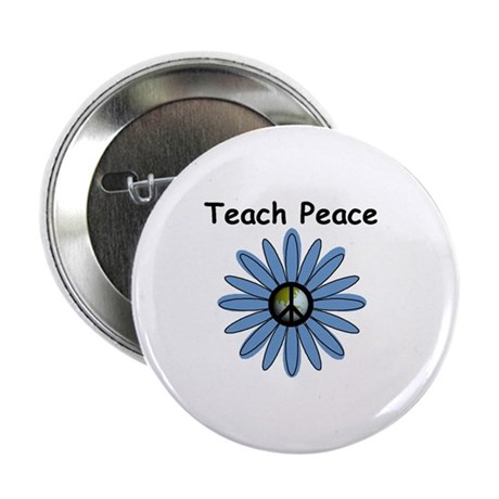 "Teach Peace 2.25"" Button (10 pack)"