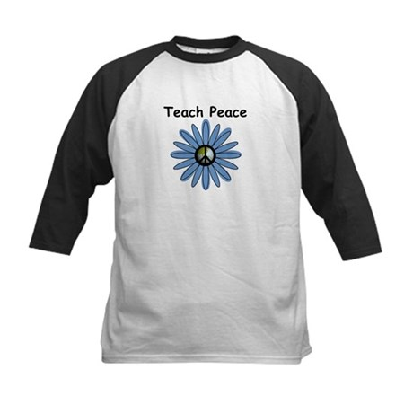 Teach Peace Kids Baseball Jersey