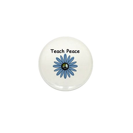Teach Peace Mini Button (10 pack)