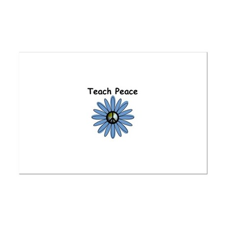 Teach Peace Mini Poster Print