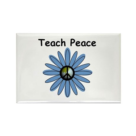 Teach Peace Rectangle Magnet (10 pack)