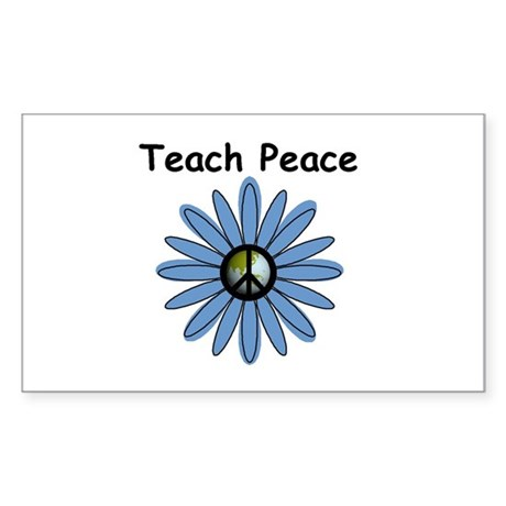 Teach Peace Rectangle Sticker