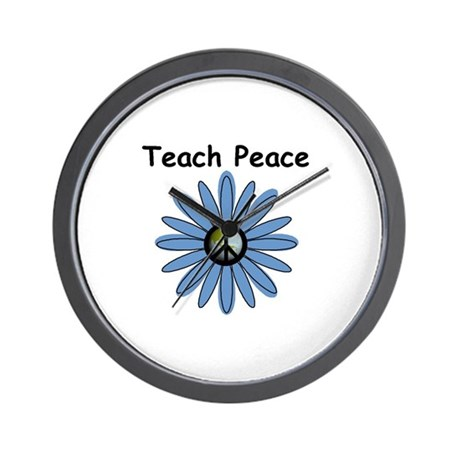 Teach Peace Wall Clock