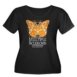 MS Butterfly Women's Plus Size Scoop Neck Dark T-S