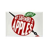 Castle My Safeword Is Apples Rectangle Magnet