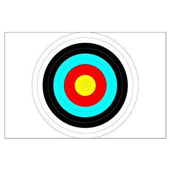 Archery Target Large Poster