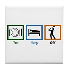 Eat Sleep Golf Tile Coaster