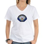 U S Navy Police Women's V-Neck T-Shirt