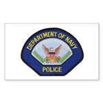 U S Navy Police Sticker (Rectangle 50 pk)