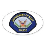 U S Navy Police Sticker (Oval 50 pk)