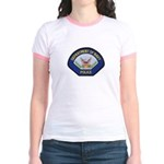 U S Navy Police Jr. Ringer T-Shirt