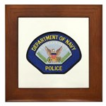 U S Navy Police Framed Tile